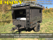 Military HMMWV Tactical M1101 M1102 Trailer Adventure Camper & Expedit
