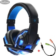 EsoGoal Wired Gaming Headset Head-Mounted Luminous Earbuds With Microp